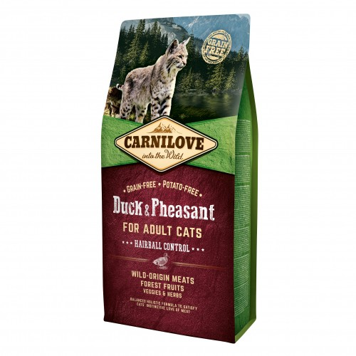 Alimentation pour chat - CARNILOVE Adult Hairball Control Canard & Faisan pour chats