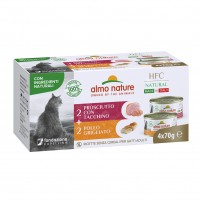 Pâtée en boîte pour chat - Almo Nature HFC Natural Made in Italy Grain Free - Lot 4 x 70 g