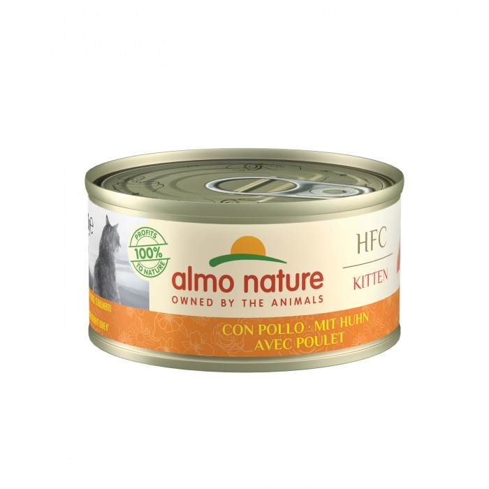 Alimentation pour chat - Almo Nature HFC Kitten - Lot de 24 x 70 g pour chats