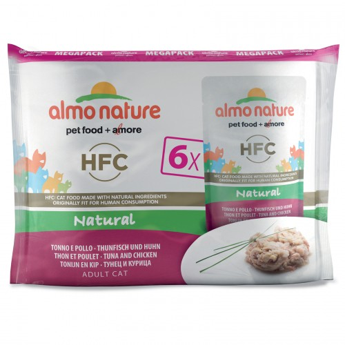 Alimentation pour chat - Almo Nature HFC Natural - Lot 6 x 55 g pour chats