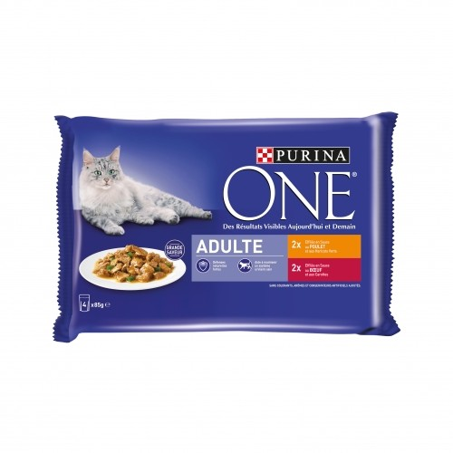 Alimentation pour chat - PURINA ONE Adulte - 4 x 85g pour chats