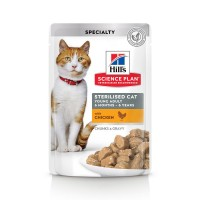 Sachet fraîcheur pour chat stérilisé de 6 mois à 6 ans - Hill's Science Plan Sterilised Cat Young Adult Sterilised Cat Young Adult