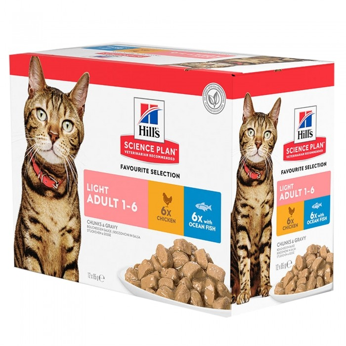 Alimentation pour chat - Hill's Science Plan Light Adult pour chats