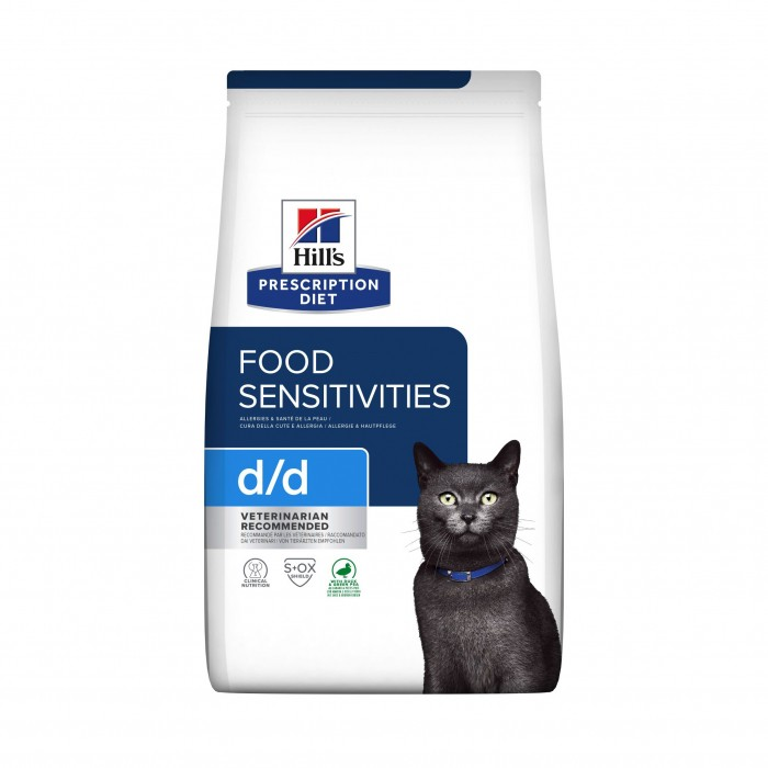 Alimentation pour chat - Hill's Prescription Diet d/d Food Sensitivities - Croquettes pour chat pour chats