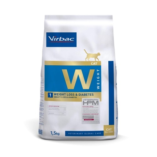 Alimentation pour chat - VIRBAC VETERINARY HPM Diététique Weight Loss & Diabetes pour chats