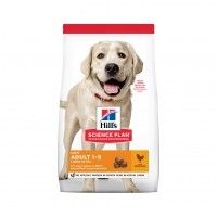 Croquettes pour grand chien de 1 à 6 ans - HILL'S Science Plan  Light Adult Large
