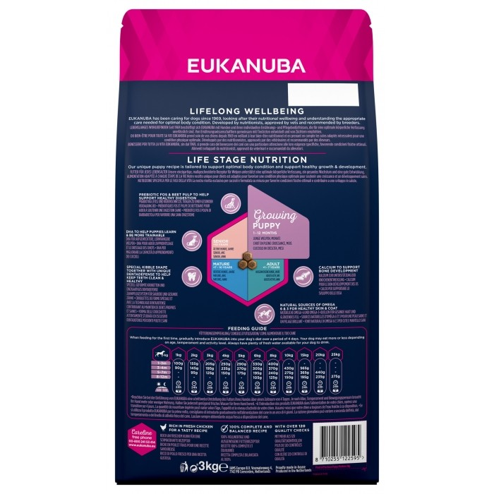 Alimentation pour chien - Eukanuba Growing Medium Small Breed pour chiens