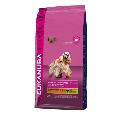 Alimentation pour chien - Eukanuba Adult Weight Control Medium Breed pour chiens