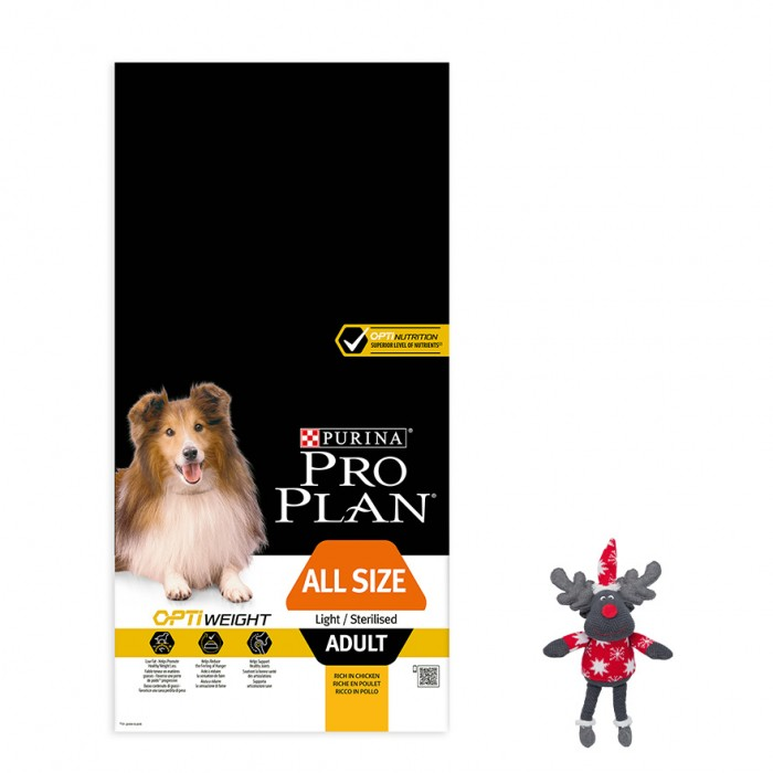 Alimentation pour chien - PURINA PROPLAN Light/Sterilised Adult - OptiWeight Poulet pour chiens
