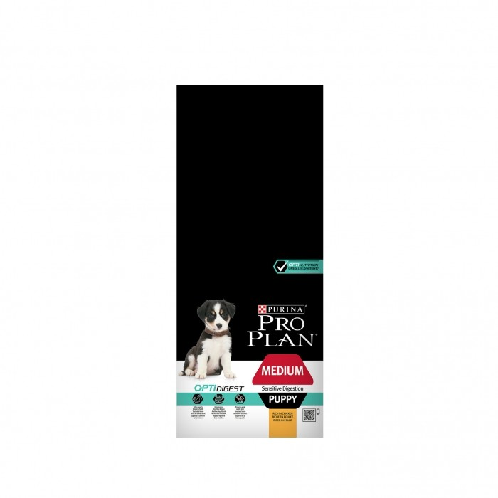 Alimentation pour chien - PURINA PROPLAN Medium Puppy Sensitive Digestion OptiDigest pour chiens