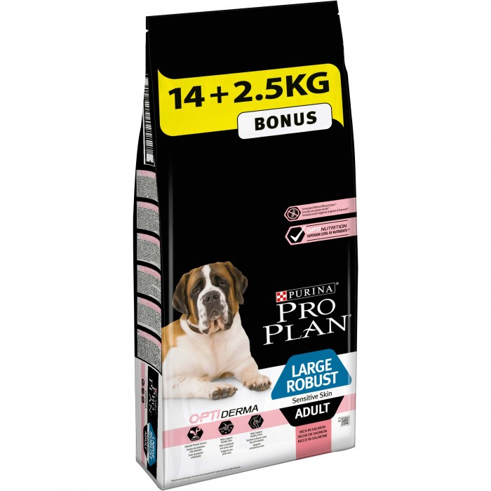 Alimentation pour chien - PURINA PROPLAN Large Adult Robust Sensitive Skin OptiDerma Saumon pour chiens