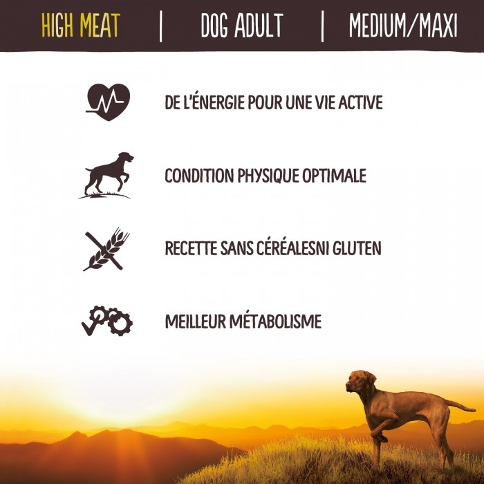 Alimentation pour chien - True Instinct High Meat Medium Maxi Adult Saumon pour chiens