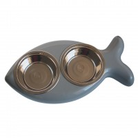 Gamelle pour chat - Gamelle double Fish Hing Designs
