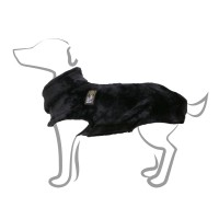 Pull polaire pour chien - Pull Snowflake - Noir Bobby